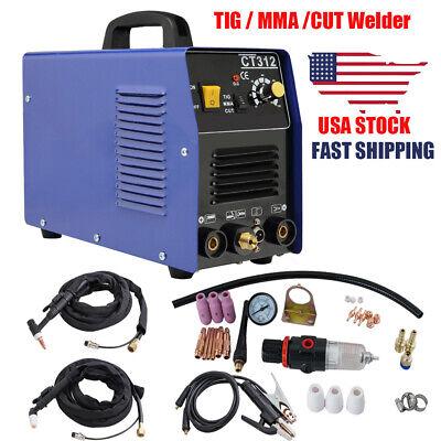 Portable Tigmma Cut Welder Plasma Cutter 3 In 1 Welding Machine W Accessories