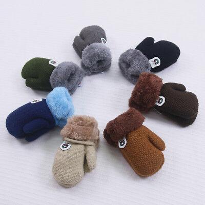 Newborn Baby Boy Girl Soft Gloves Warm Knitted Cashmere Gloves Cotton Mittens L