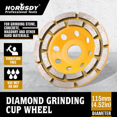 4-12 Diamond Cup Grinding Wheels Double Row Concrete 18 Seg Angle Grinder