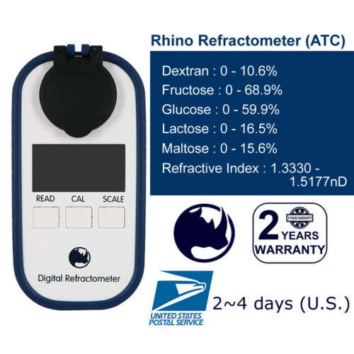RHINO Brix( Dextran Fructose Glucose Lactose Maltose) Digital Refractometer Test