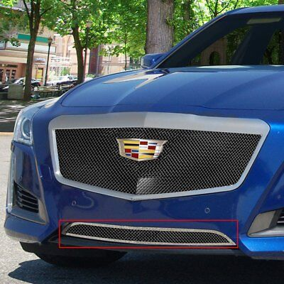 For Cadillac CTS 14-19 1-Pc Classic Series Black Ice Fine Mesh Bumper Grille