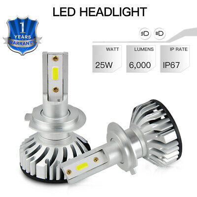 2x H7 LED Headlight Bulbs 6500K 50W Lamp Fit Mercedes CL203 W204 S204 2008-2011 for sale  Dunstable