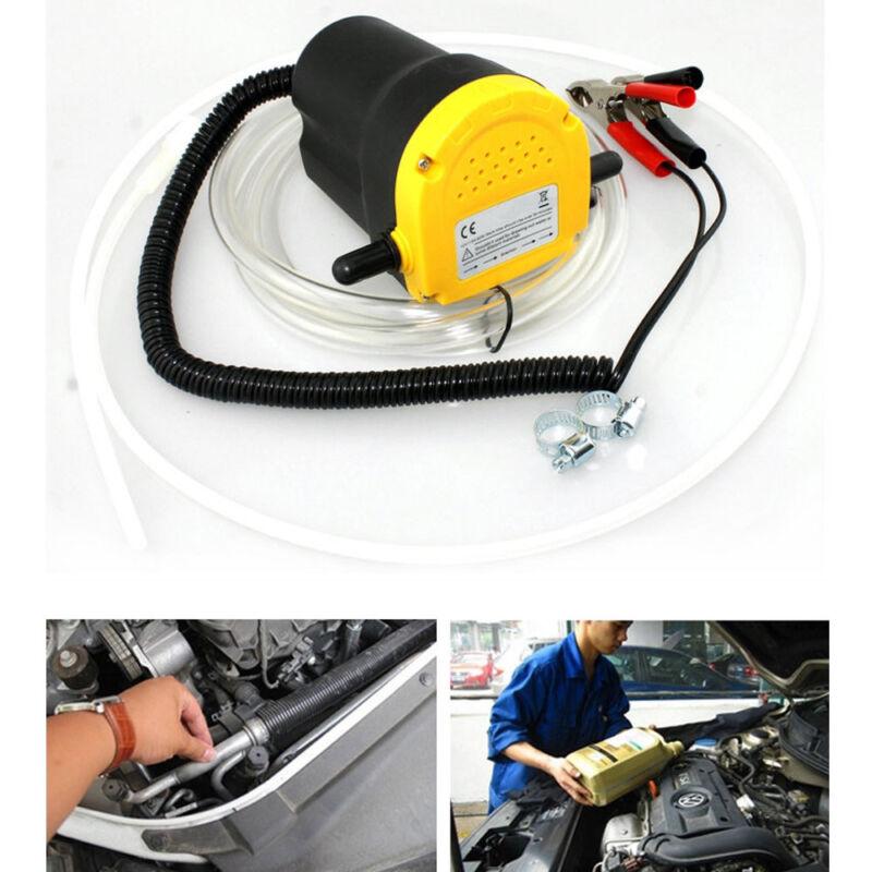 12V DC Oil Diesel Fluid Electric Transfer Pump for Car Motorbike -Yellow + Black