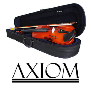 Axiom Beginners Violin Outfit - 4/4 Full Size Violin - Ideal First Violin