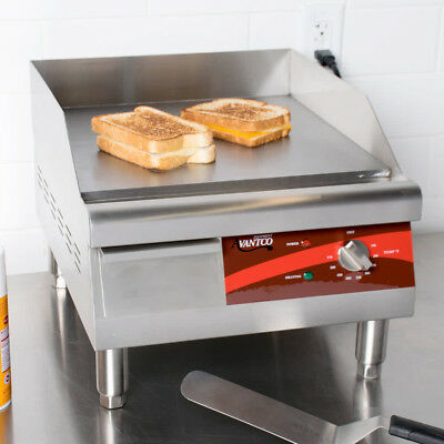 16 Electric Stainless Steel Restaurant Countertop Flat Top Griddle 120 Volts