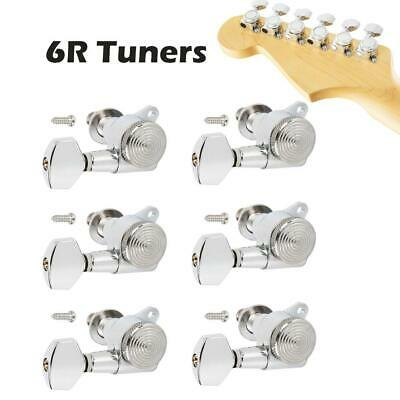 REVERSE 6 in line-CHROME WASHERS Satin Chrome Tuning Machine Heads