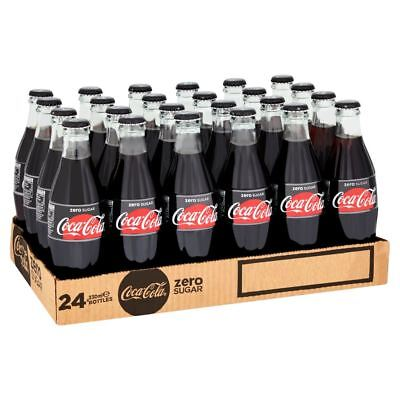 Coca Cola Zero Coke in Glass Bottles 330ml (case of 24)