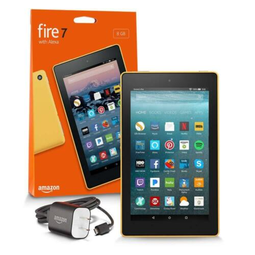 """Amazon Fire 7 7"""" Tablet 16GB 7th Generation, 2017 Release Canary Yellow B01J90P13M"""