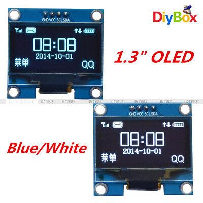 1.3 Iic I2c Serial 128x64 Oled Lcd Display Screen Module Bluewhite For Arduino