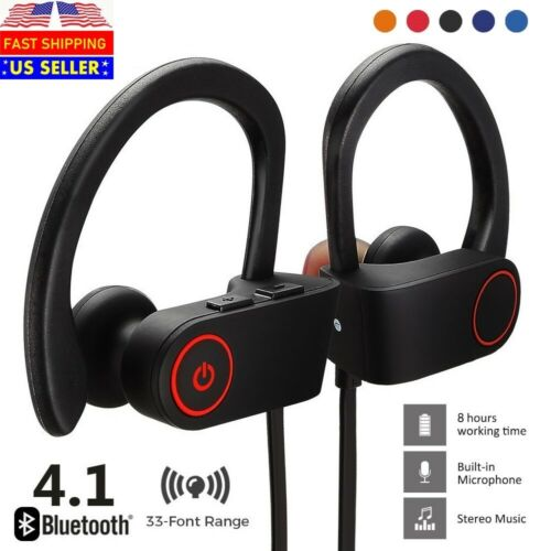 Waterproof Bluetooth Earbuds Stereo Sports Wireless Headphones in Ear Headset Cell Phone Accessories