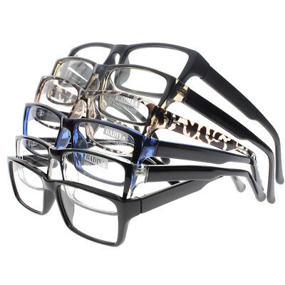 Large Frame Men Rectangle -100 -600 Myopia Distance Minus Nearsighted (Large Rectangle Glasses)