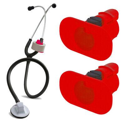 2 Pack Of Red S3 Stethoscope Tape Holders - Littman Nursing Scrubs Ems Emt