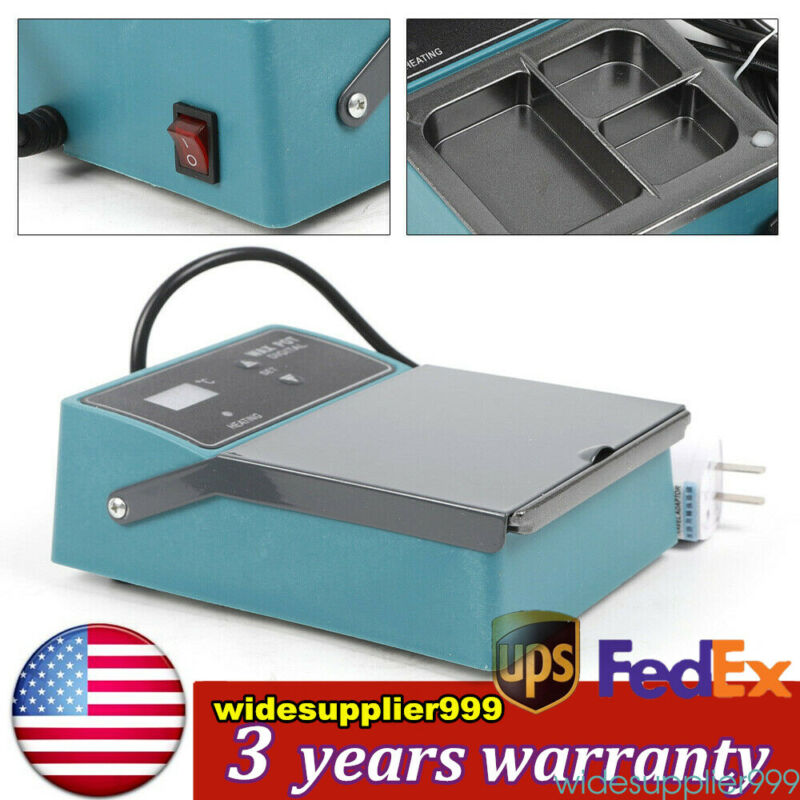 3 Well paraffin Heater Pot Digital Dental Lab Equipment paraffin Dipping Pot