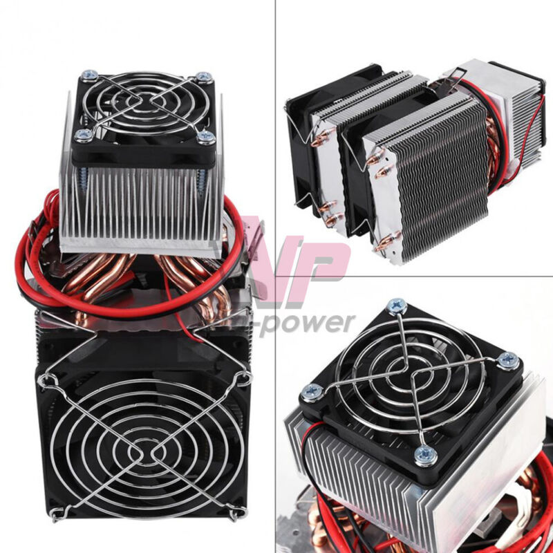 DC12V Peltier Refrigeration Cooling Air Radiator DIY Cooler System Semiconductor