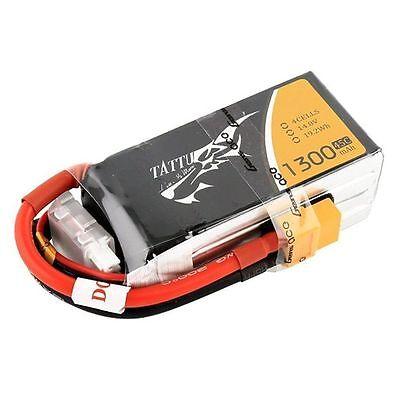 Tattu 1300mAh 4S 14.8V 45C 90C Lipo Battery Terminate XT60 gens FPV Race Drones Quad