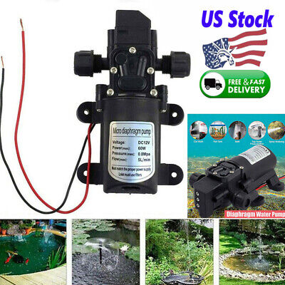 Mini Automatic Diaphragm Pump Electric Car Washing Water Pump 12v 60w 5lmin