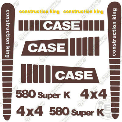 Case 580 Super K Decal Kit Backhoe Replacement Sticker Set - 7 Year Vinyl