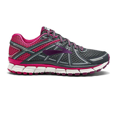 Brooks Womens Defyance 10 Running Shoes Trainers Sneakers Grey Pink Sports