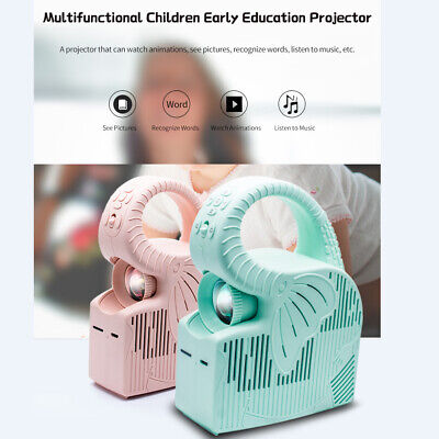 Early Education Kids Projector Video Picture Home Beamer 2000mAh Green BB247