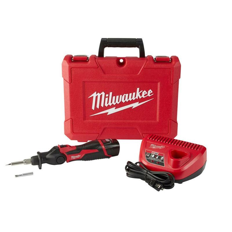 Milwaukee Soldering Iron Kit w Batteries Charger Hard Case R