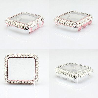 Full 3D bling girly shiny diamond Soft skin Case for Apple Watch Series 4 3 2 1 Full Diamond Bling