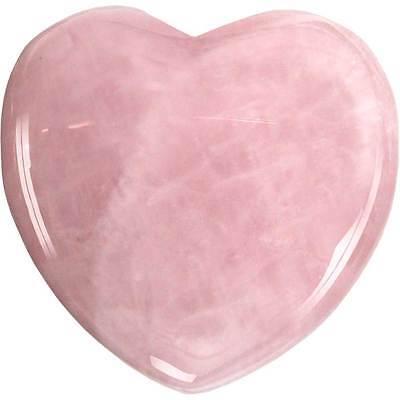 Pink Crystal Heart (True Love Pink Heart Shaped Rose Quartz Crystal Healing Chakra Puff)