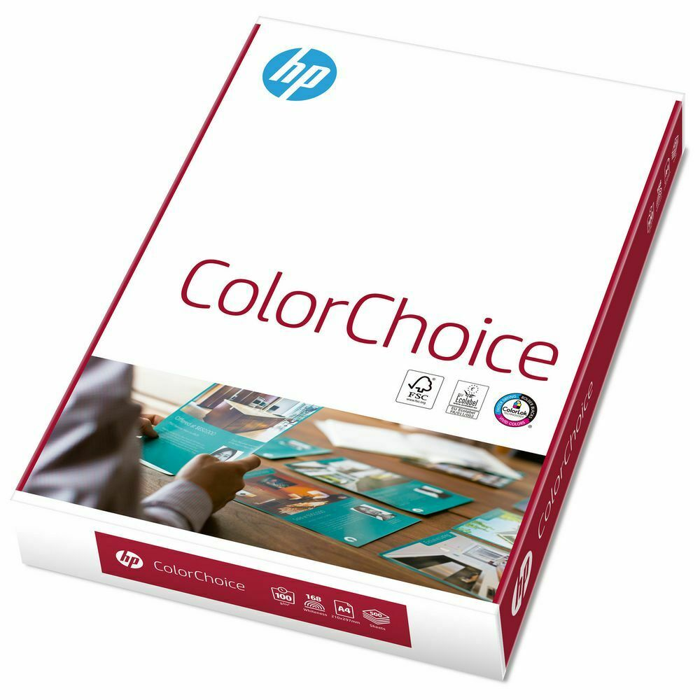 Original HP ColourChoice A4 Hochleistungs-Kopierpapier  90 / 100 g/m² hochweiss