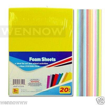 10 Color 20 Pcs Craft Foam Sheets For Craft ART 6 X 8 1/2 inch