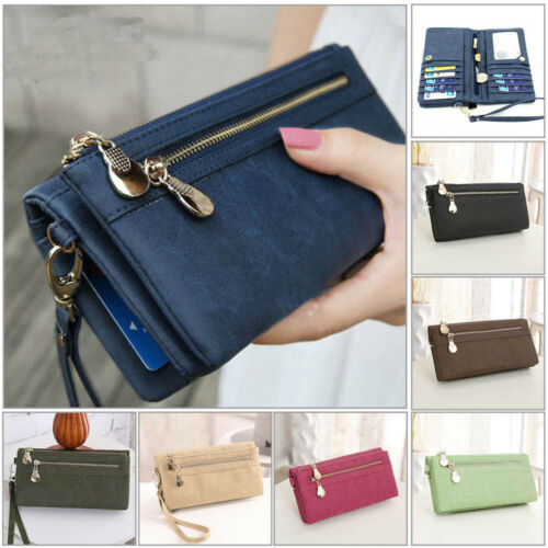 new women lady leather wallet long card
