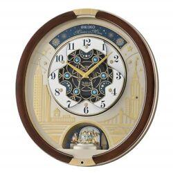 Seiko QXM382BR Swarovski Melody in Motion Wall clock, 2019 Edition - Battery