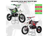 BRAND NEW M2R Racing KXF125 120cc 76cm Red or Green Pit Bike Motocross