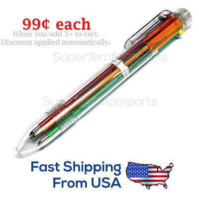 USA: 6-color Ball Point Pens 0.7mm school supply, multicolor pen