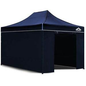 3x4.5 Pop Up Gazebo Hut with Sandbags Navy North Melbourne Melbourne City Preview