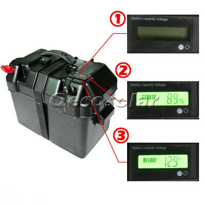 12V Deep Cycle Battery Box W/ LCD Screen residual battery monitor for Van Marine