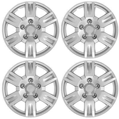 "17"" Silver Set of 4 Wheel Covers Full Rim Hub Caps fit R17 Tire & Steel Wheels"