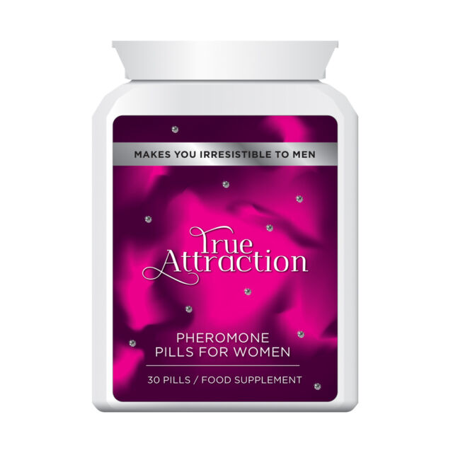 TRUE ATTRACTION PHEROMONE PILLS FOR WOMEN – MAKES YOU IRRESISTIBLE TO MEN