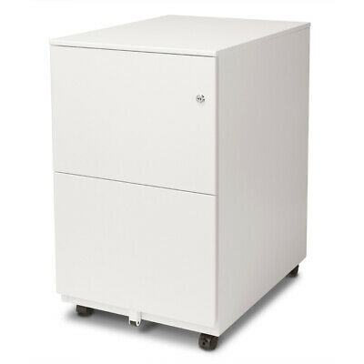 Aurora Fc-102wt Modern Soho Design 2-drawer Metal Mobile File Cabinet White