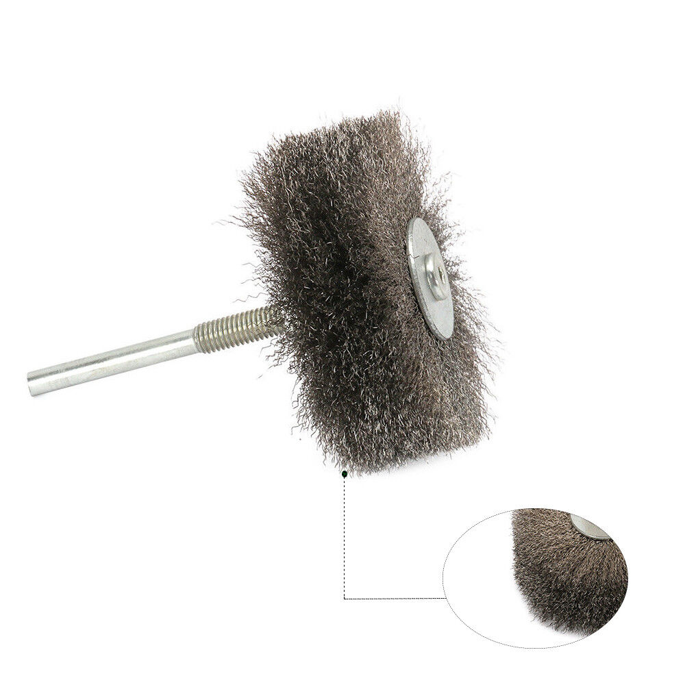 50Pcs 25mm Stainless Steel Wire Wheel Brush Sets T-Type with 1//8 Inch Shank Polishing Wheels Rotary Tool for Cleaning,Deburring and Surface-Finishing