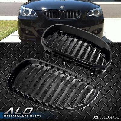 Black Front Hood Kidney Grille Grill For BMW E60 E61 5 Series M5 03-10
