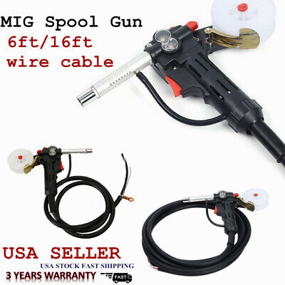 Mig Welding Spool Gun Push Pull Feeder Aluminum Torch W 2m5m Wire Cable Roller