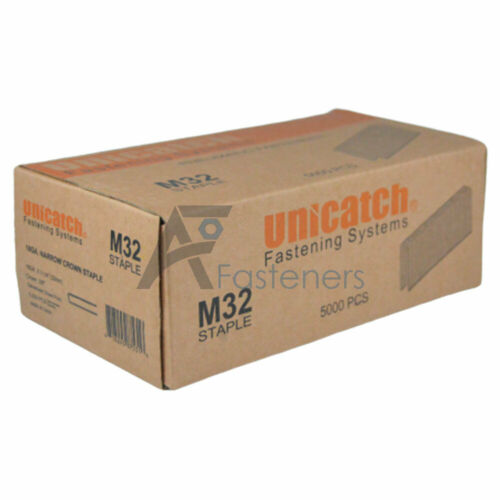 "M15 1-1/4"" Senco Type M Series Galvanized Staples 3/8"" Crown 18 Gauge 5,000/Box"