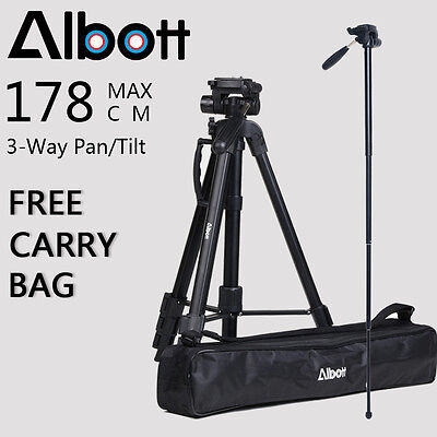 Professional Tripod Digital Camera DSLR Camcorder Travel For Canon Nikon Sony