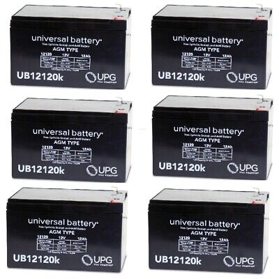 6 PACK UB12120 12V 12AH F2 Battery Replaces Giant LaFree Sport Electric Bicycle