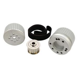 SBC Small Block Chevy Billet Aluminum Gilmer Belt Drive Pulley Kit 305 350 400