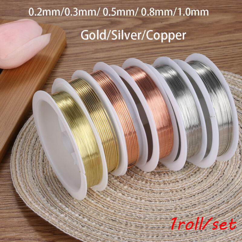 Diy  Beads gold plated Craft String Necklace copper wire Jewelry Making Cord