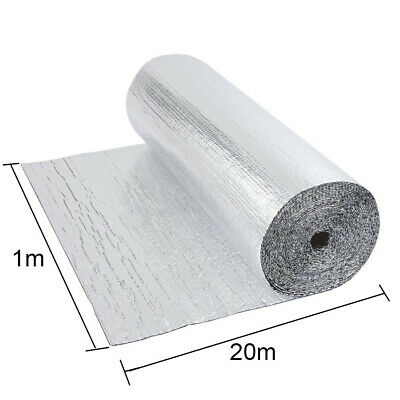 Double Aluminium Single Layer Bubble Wrap Foil Insulation 1m x 20m Loft Floor