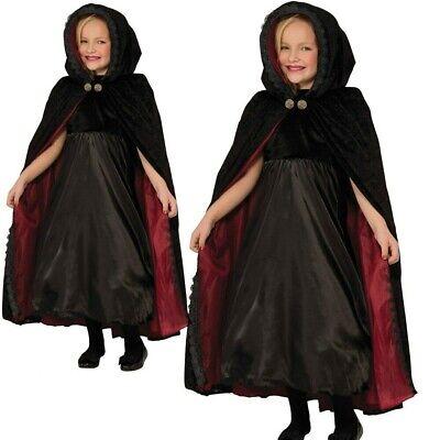 Mädchen Gothic Halloween Vampir Cape Kinder Vampirin Kinder - Gothic Vampir Kinder Kostüme