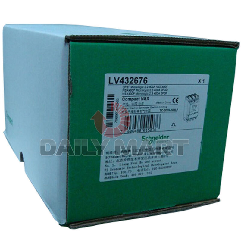 New Schneider Electric LV432676 3 Pole Compact NSX Molded Case Circuit Breakers