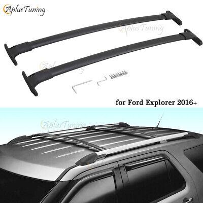 Fit for Ford Explorer 2016-2019 Aluminum Black Cross Bars Crossbars Roof Rack  Ford Explorer Racks