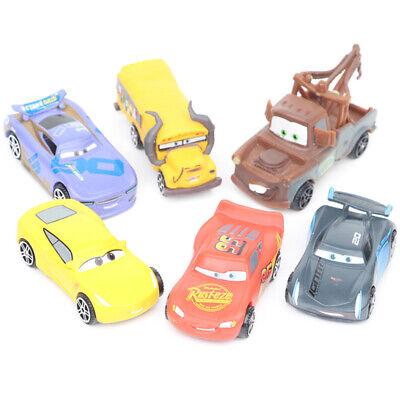 Cars 6 PCS Lightning McQueen Mater Jackson Car Action Figure Cake Topper Kid Toy Child Lightning Mcqueen Cars